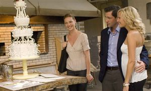 Katherine Heigl, Edward Burns and Malin Akerman only wanted a sticky bun.