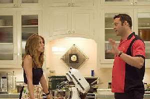 Vince Vaughn tries to understand why Jennifer Aniston is interested in him.  Tell us when you find out, Vince.