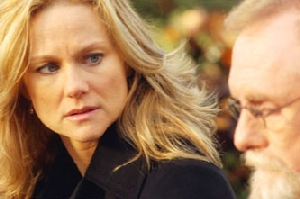 Laura Linney, finally figuring out where the smell of cabbage is coming from.