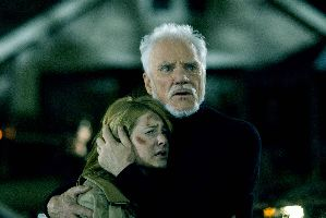 Malcolm McDowell protects Scout Taylor-Compton from the harsh critics.  SHE CAN STILL HEAR ME!