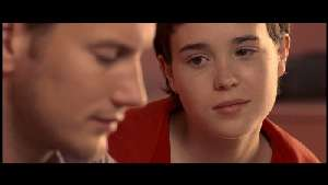 Ellen Page and Patrick Wilson, both trying desperately to pretend she's 14.