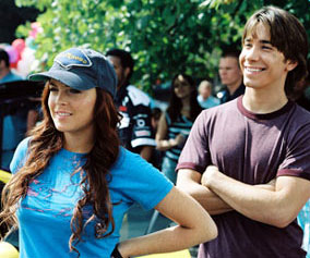 Justin Long, sporting the airbrushed bits from Lindsay Lohan's funbags.