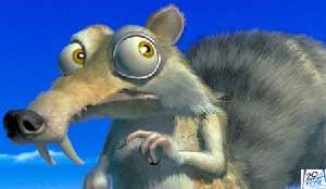 The Scrat hears ice crunching behind him and hopes it's not Michael Jackson.