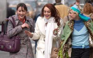 Lindsay Lohan and friends, laughing all the way to the bank.