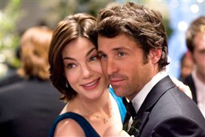 Michelle Monaghan and Patrick Dempsey pretend they weren't really playing with superglue.