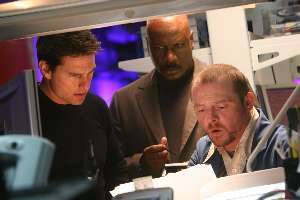 Tom Cruise, Ving Rhames and Simon Pegg find that nasty-mode Sudokus are even harder than their Mission Impossible.