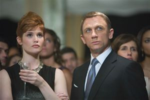 Daniel Craig and Gemma Arterton consider breakfast at Tiffany's.  After fucking like bunnies, naturally.