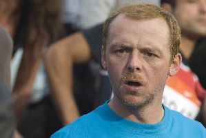 Simon Pegg thinks he left the iron on.