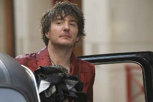 Dylan Moran traded his hairbrush for these rags, which he intends to distil into vodka.