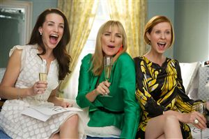 Kristin Davis, Kim Cattrall and Cynthia Nixon react to Sarah Jessica Parker's announcement that she's going for an Oscar.