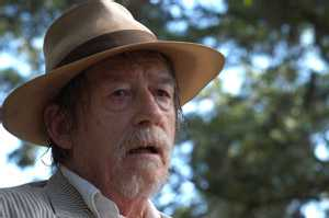 John Hurt, hoping that it's sweat running down his leg.