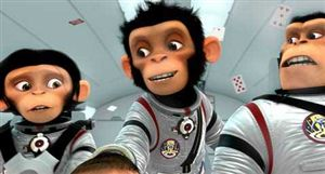 The chimps worry about the spacesuits restricting their ability to fling poo.