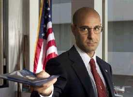 Stanley Tucci, he must have got out of the wrong side of the bed.