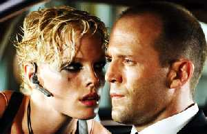 Kate Nauta quietly asks Jason Statham if he knows how to get crayons out of ears.