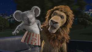 Eddie Izzard's voice rubs off on Nigel the koala.